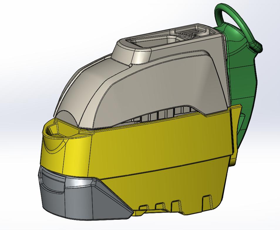 Модель корпуса машины после реверсного инжиниринга