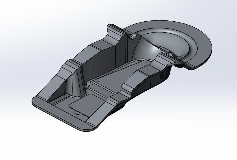 Нижняя полуформа алюминиевой ротоформы ручки управления моечной машины