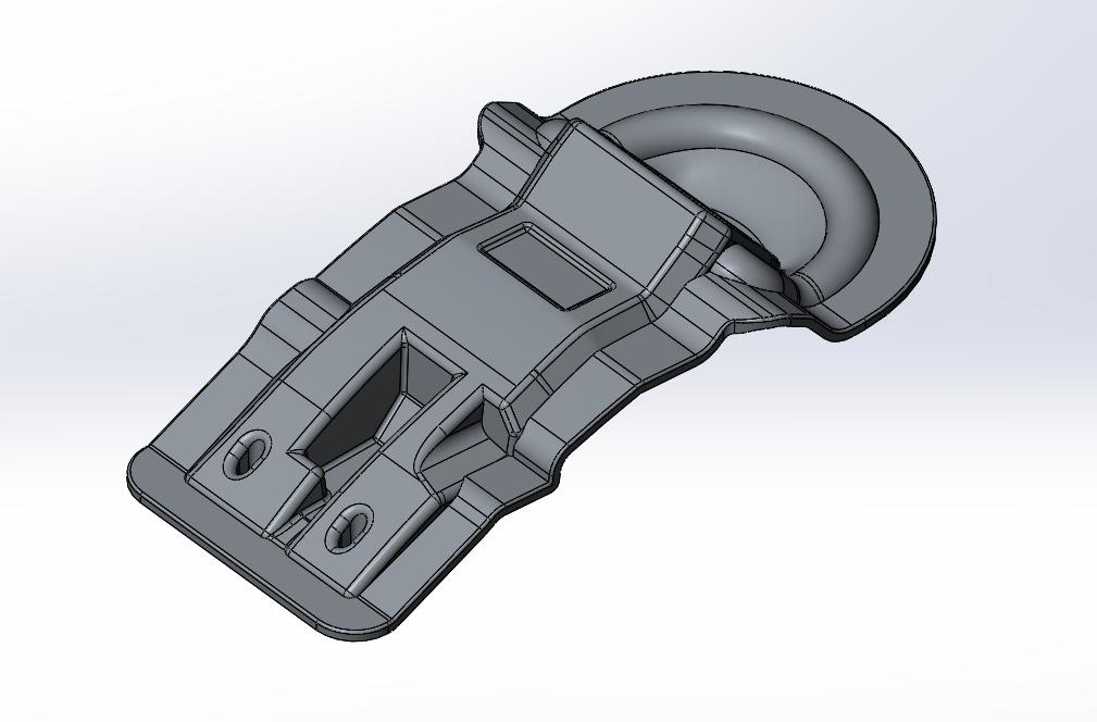 Верхняя алюминиевая часть ротоформы ручки управления