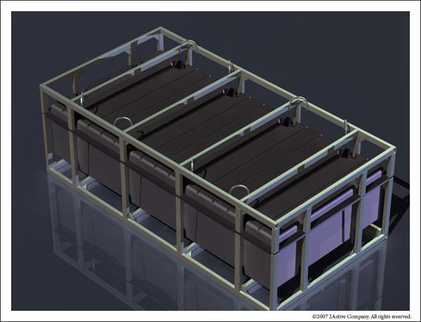 Рендер модели ротоформы понтона 2FLOAT из листовой стали