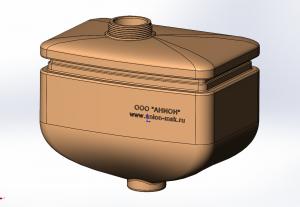 CAD модель пластикового бункера