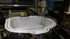 CNC of casting blanc