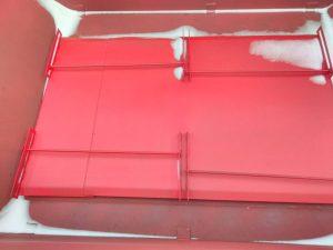 металлическая крышка 8ми кубового бункера